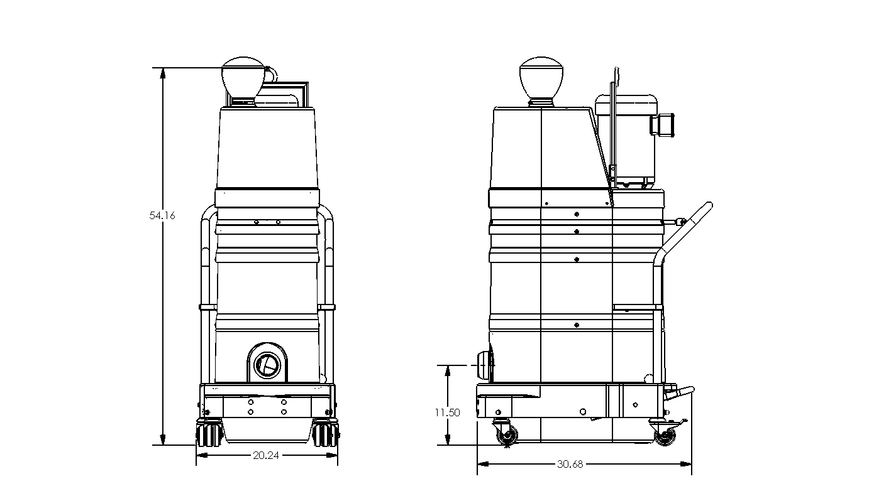 Ds1 Series Up To 300 Cfm Ruwac Usa