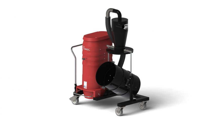 Red Raider XLT Portable Industrial Vacuum and Cyclonic Pre-Separator System