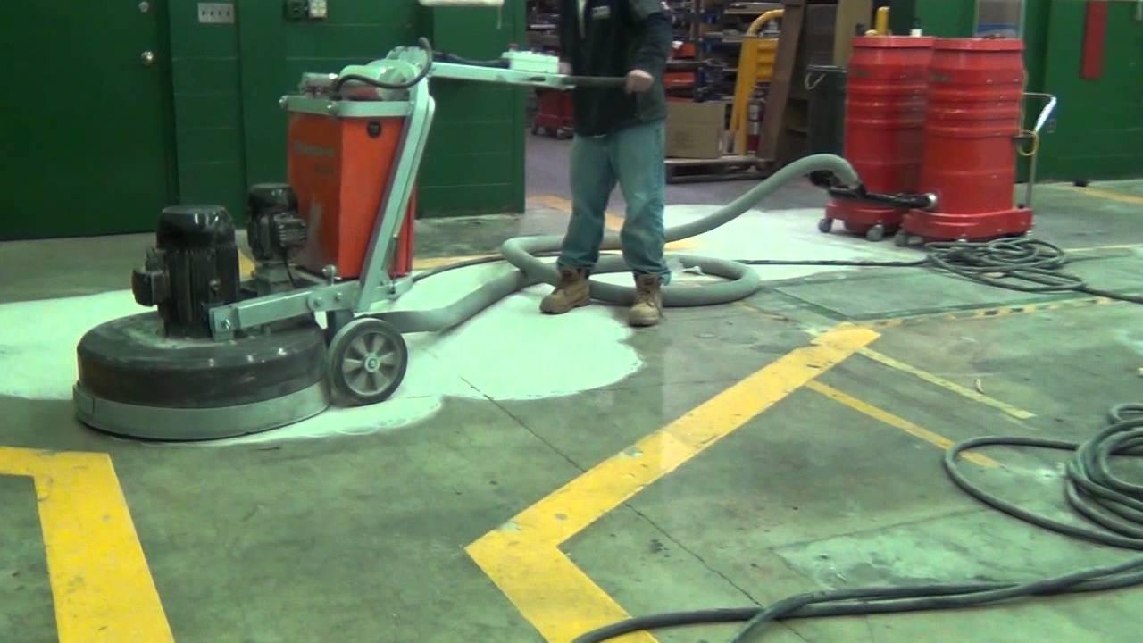 Concrete grinder removing lawn concrete floor grinder for Concrete floor cleaning machine rental