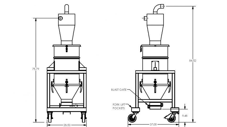 HEC-BG Pre-Separation System Dimensions