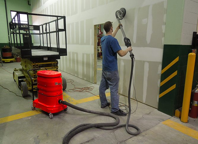WS2220 w/ Bazooka Sander In Action Dry Wall Sanding