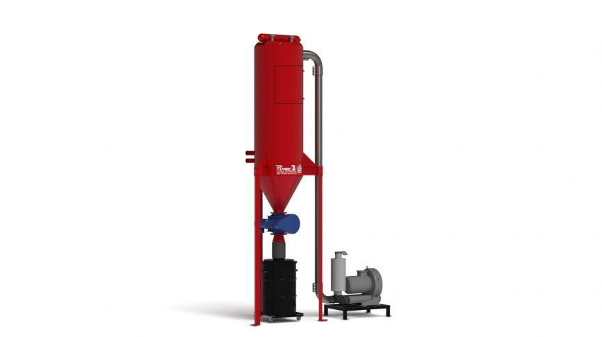 FA3100 Silo Central Vacuum System with Rotary Airlock and Direct Drum Fill Discharge