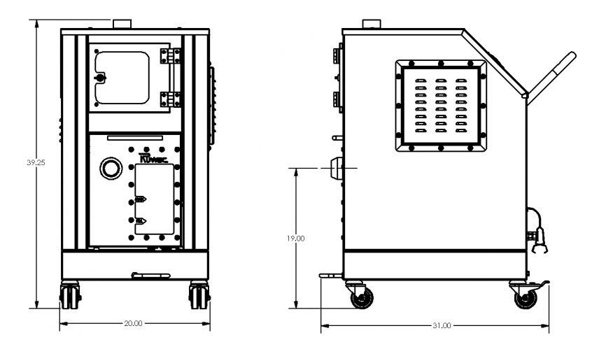 NA26 Immersion Separation Vacuum Dimensions