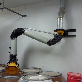 Wall Mounted Dust Extraction Swing Arm