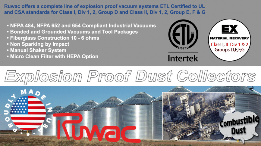 Explosion Proof Industrial Vacuum Systems | Ruwac USA